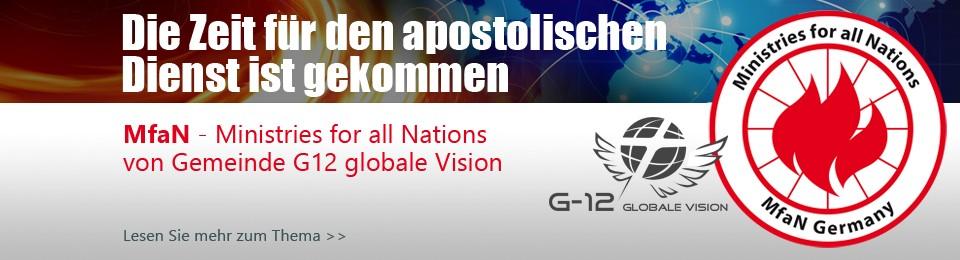 Slider – die Zeit ist für apostolischen Dienst gekommen