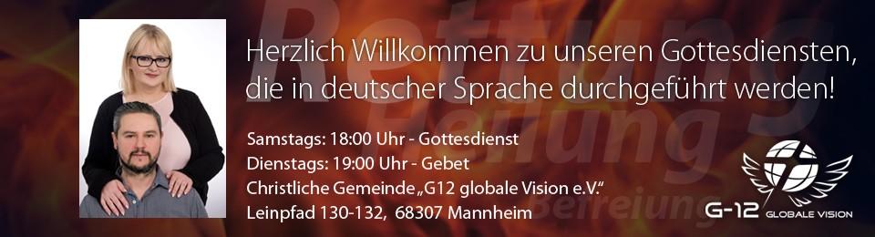 Banner – Gottesdienste in Deutsch 25.11.17