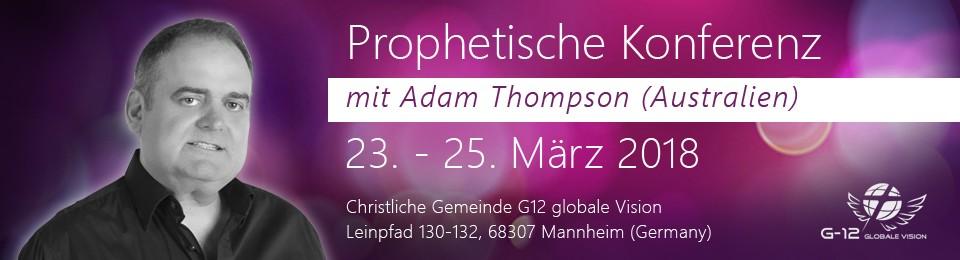 Konferenz mit Adam Thompson sl.